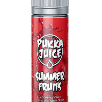This Summer Fruits e-liquid by Pukka Juice is a refreshing mix of berries and citrus. This 30%PG/70%VG shortfill e-liquid comes in 60ml bottles filled up to 50ml.
