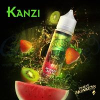 Twelve Monkeys Kanzi is a mix of strawberry, watermelon and kiwi. This Canadian Shake and Vape has a PG/VG ratio of 20%PG/80%VG.