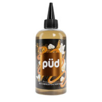 PUD Butterscotch Popcorn is a flavour by Joe's Juice. This shortfill e-liquid features a 30%PG/70%VG ratio, which makes this juice suitable for sub-ohm devices. This flavour is available in handy 240ml bottles filled up to 200ml (hence shortfill). You can easily add four nicotine boosters without losing any flavour.