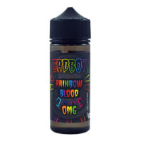 Sadboy Rainbow Blood is a tropical fruits e-liquid. This shortfill e-liquid has a PG/VG ratio of 25%PG and 75%VG. It is available in 120ml bottles filled with 100ml (hence short fill). You can add two nicotine boosters without losing any flavour.