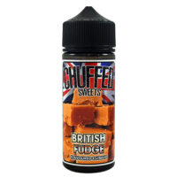 British Fudge is a dessert flavored e-liquid by Chuffed. This nicotine free shortfill has a PG/VG ratio of 30%PG/70%VG. It is available in 120ml bottles filled with 100ml