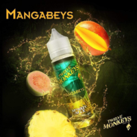 Twelve Monkeys Mangabeys is an e-liquid with a cocktail of mango and pineapple. This Canadian Shake and Vape has a PG/VG ratio of 25%PG/75%VG. It is available in 50ml bottles.