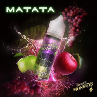 Twelve Monkeys Matata is an e-liquid with a cocktail of apple and grape. This Canadian Shake and Vape has a PG/VG ratio of 25%PG/75%VG. It is available in 50ml bottles.