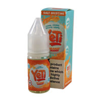 Orange Mango by Yeti Nic Salts is an e-liquid with orange, mango and menthol. This e-liquid is produced in the UK and comes in 10ml bottles with 20mg/ml Nicotine Salts.