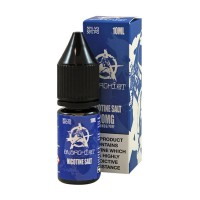 Anarchist Salt Blue is raspberry slushie flavour with Nicotine Salts. This 50%PG/50%VG e-liquid is produced in the US and comes in 10ml bottles.