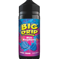 Blue Raspberry by Big Drip is an e-liquid with a mix of blue raspberries. Manufactured in the UK by Doozy Vape with a PG/VG ratio of 30%PG/70%VG. It is available in 120ml bottles filled up to 100ml, which leaves you room for two nicotine boosters.