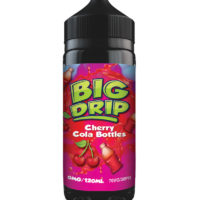 Cherry Cola Bottles is an e-liquid by Big Drip. Manufactured in the UK by Doozy Vape with a PG/VG ratio of 30%PG/70%VG. It is available in 120ml bottles filled up to 100ml, which leaves you room for two nicotine boosters.