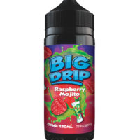 Raspberry Mojito is a refreshing e-liquid with raspberry, lime and mint by Big Drip. Manufactured in the UK by Doozy Vape with a PG/VG ratio of 30%PG/70%VG. It is available in 120ml bottles filled up to 100ml, which leaves you room for two nicotine boosters.