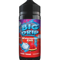Watermelon Chill by Big Drip is a watermelon e-liquid with a touch of ice. Manufactured in the UK by Doozy Vape with a PG/VG ratio of 30%PG/70%VG. It is available in 120ml bottles filled up to 100ml, which leaves you room for two nicotine boosters.
