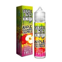 Apple Rhubarb Crumble is a dessert e-liquid by Double Drip. This UK shortfill e-liquid features a 80%VG and is ideal for dripping and sub-oh vaping. It comes in 60ml bottles filled with 50ml flavour.