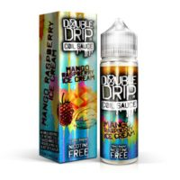 Mango Raspberry Ice Cream is an e-liquid by Double Drip. This UK shortfill e-liquid features a 80%VG and is ideal for dripping and sub-oh vaping. It comes in 60ml bottles filled with 50ml flavour.