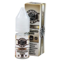 This White Chocolate Mocha is the Nic Salts version of Barista Brew's flavoured e-liquid. This e-liquid is available with 10mg/ml and 20mg/ml Nicotine Salts. These e-liquids are mostly suited for simple electronic cigarettes and pod systems.