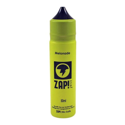 This Melonade is a melon lemonade flavoured e-liquid by Zap! Juice. This UK shortfill e-liquid features a 30%PG/70%VG ratio. It comes in 60ml bottles filled with 50ml flavour. You will also receive a 10ml booster with 18mg/ml nicotine.